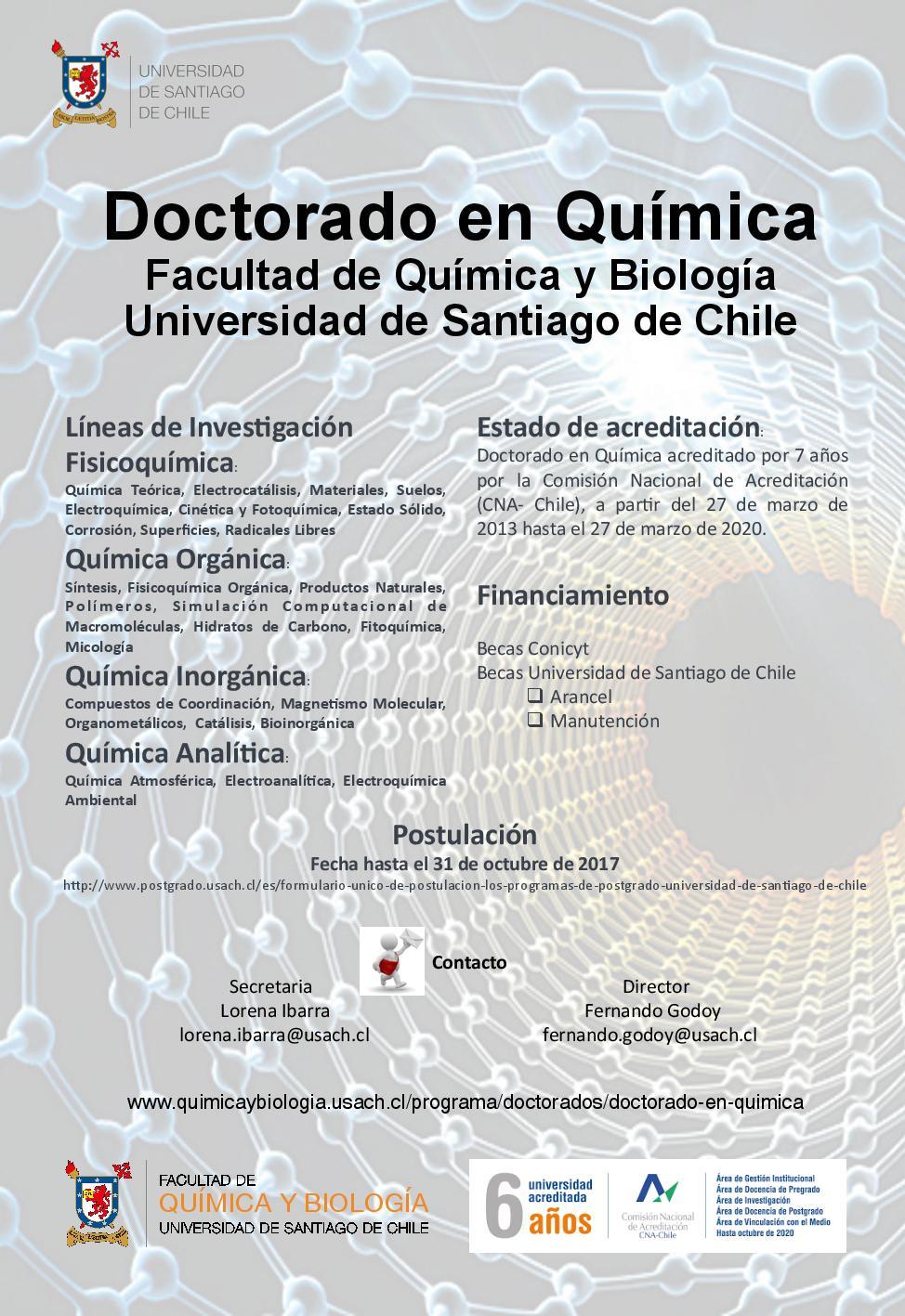 Afiche Doctorado en Química